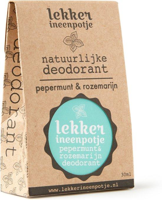 LEKKER IN EEN POTJE natuurlijke deodorant – Pepermunt en Rozemarijn – 30 ML