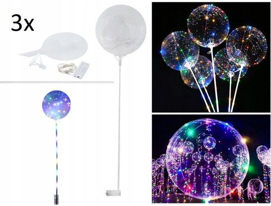 Bolcom Lichtgevende Led Ballon Set 3 Lamp Verlichting Feest