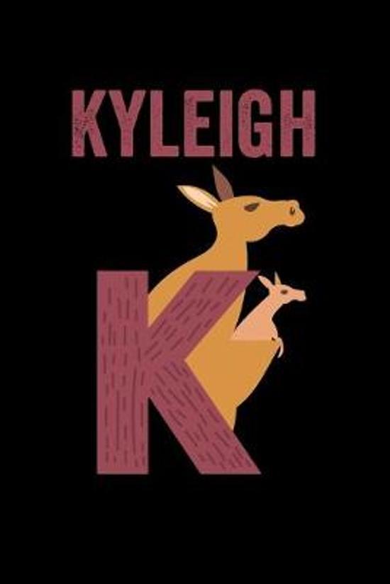 Kyleigh: Journal (Diary, Notebook) Personalized Custom Name Alphabet Kangaroo Birthday Gift for Girls