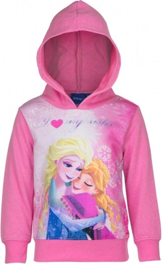 Frozen capuchon sweater roze 128 (8-9 jaar)