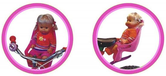 Mini Mommy Poppen Fietszitje Paars 20 X 36 X 15 Cm