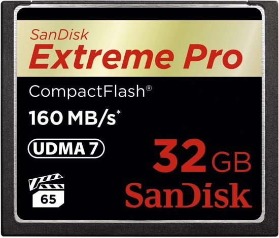Sandisk Extreme PRO CompactFlash kaart 32 GB
