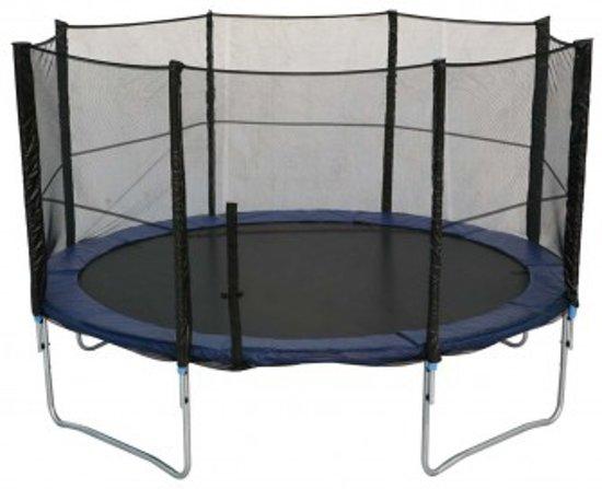 big bounce trampoline blue line 400 cm met veiligheidsnet blauw. Black Bedroom Furniture Sets. Home Design Ideas