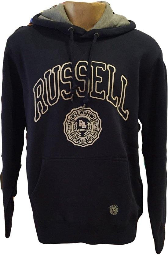 Russell Athletic Sweater met Capuchon - Navy - Maat M