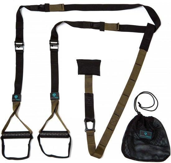 #DoYourFitness - Suspension Trainer - »Alexandros« - Slingtrainer - Rubberen grip, karabijnhaakbevestiging, transporttas - Incl.downloadable Ebook handleiding - rood