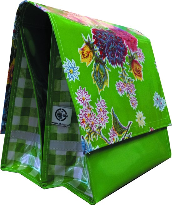 Du Baj  Mexi Kidz Chrysant Green - Dubbele Fietstas - 21 l - Lime Groen