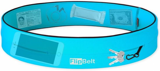 Flipbelt – Running belt - Hardloopbelt – Hardloopriem - Aqua – M