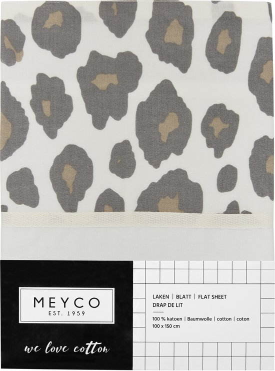 Meyco wieglaken Panter - 75x100 cm - neutral