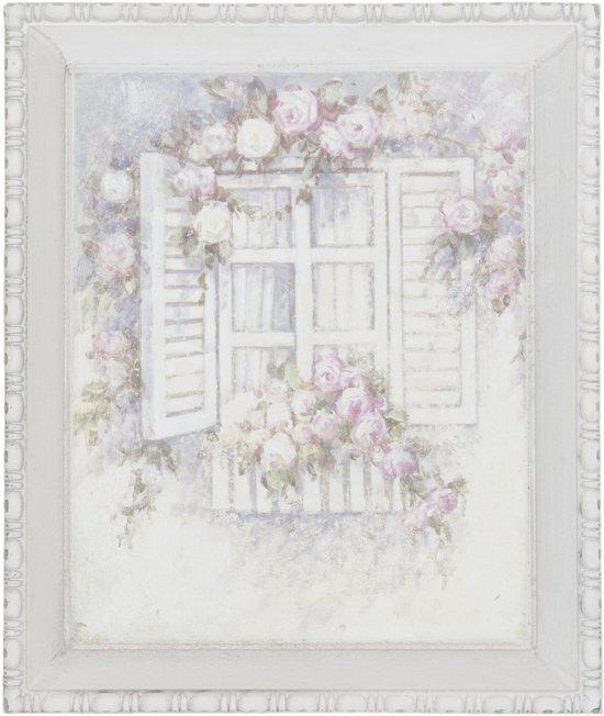 Clayre & Eef 63063 - Schilderij - 27 x 3 x 32 cm - mdf - pink