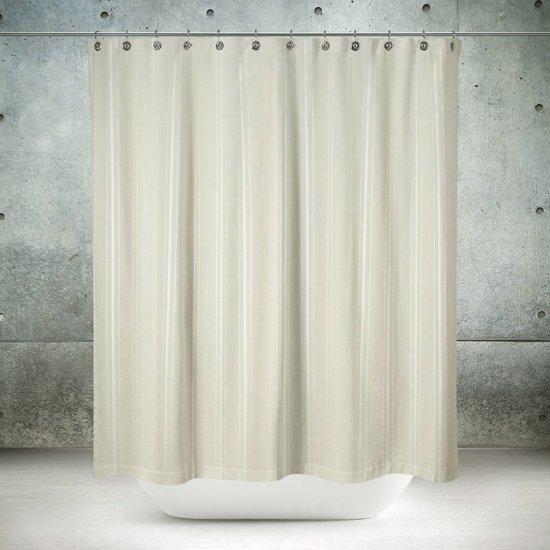 Roomture - douchegordijn - Classical off white - licht beige - 180 x 200