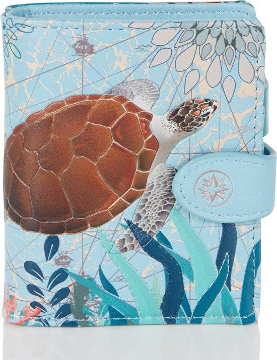 Shagwear Portemonnee - Compact Beugelportemonnee - Dames - Kunstleer - Sea Turtle (009746sm)