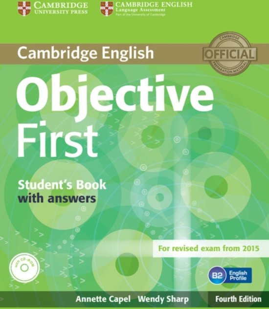 Objective First Student's Book with Answers - Annette Capel