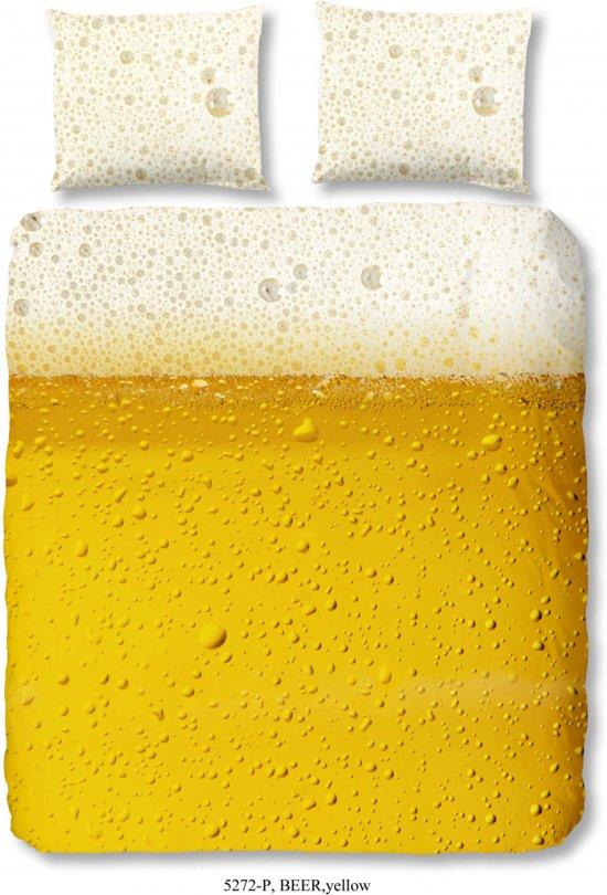 Good Morning 5272-P bier  - dekbedovertrek - tweepersoons - 200x200/220 cm  - katoen - geel