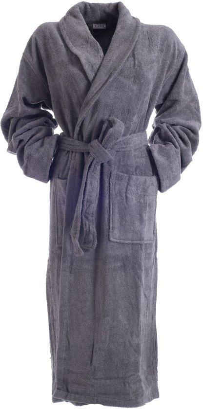 Bamboe Sauna Badjas Grijs L/XL /  dames / heren / unisex - badstof badjas