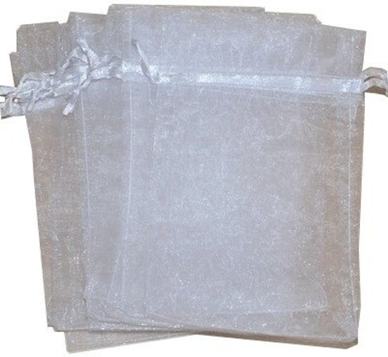 Organza zakjes wit 10x15 cm 100 stuks