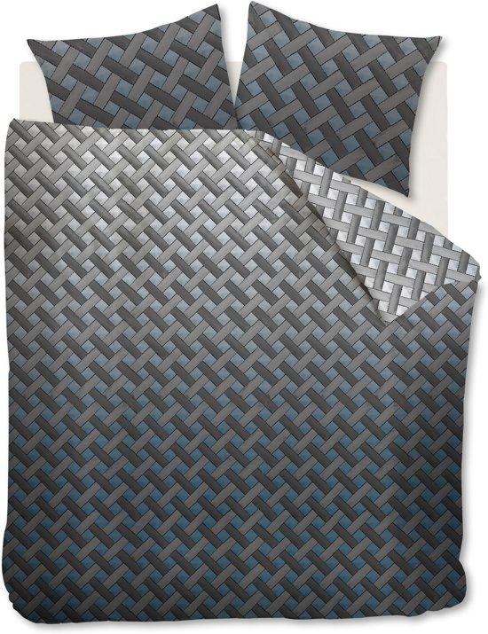 Beddinghouse Padded - Dekbedovertrek - Eenpersoons - 140x200/220 cm - Blauw Grijs