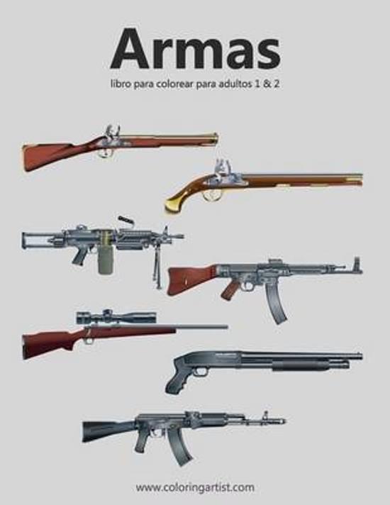 bol.com | Armas Libro Para Colorear Para Adultos 1 & 2, Nick Snels ...