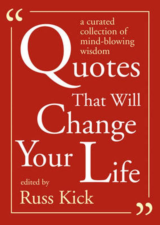 Bol Com Quotes That Will Change Your Life Russ Kick