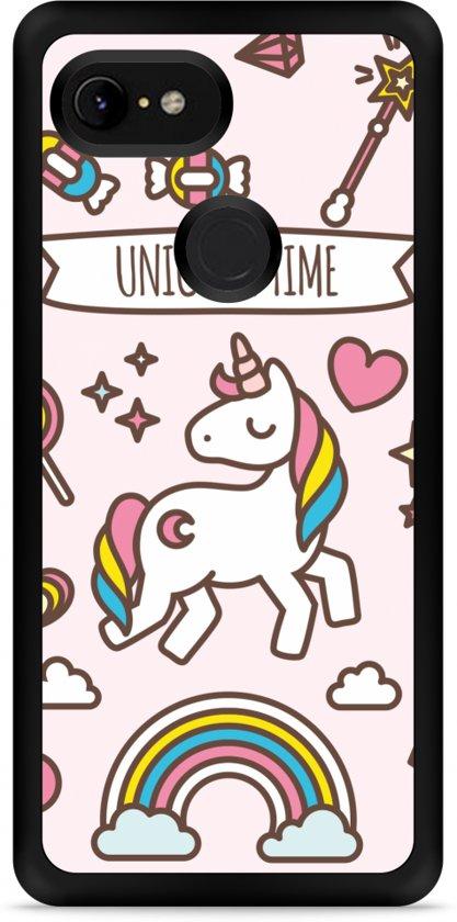 Google Pixel 3 Hardcase hoesje Unicorn Time