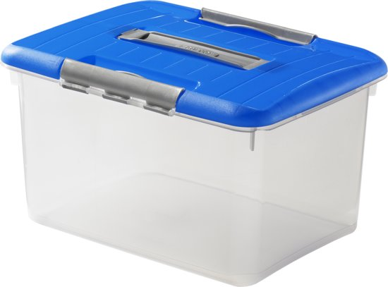 Curver Optima Opbergbox - 15 l - Transparant / Blauw