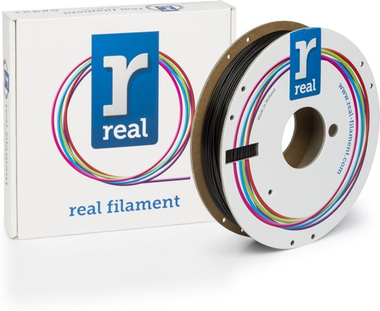 REAL Filament PLA zwart 1.75mm (500g)