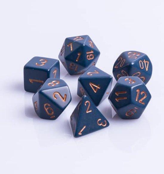 Afbeelding van het spel Polydice 7 Dobbelstenenset Blauw met Goud