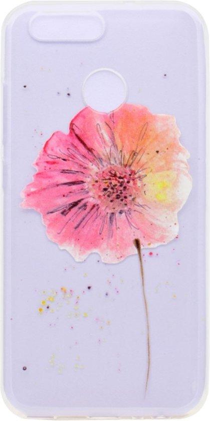 Let op type!! Voor Huawei nova 2 bloem patroon Ultra-thin TPU zachte beschermende draagtas