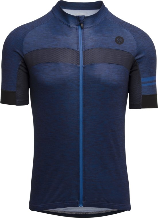 Agu Shirt Korte Mouw Essential Melange Deep Blue L