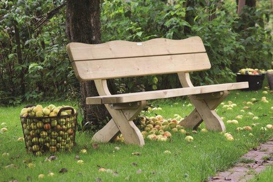 Houten tuinbank landelijke stijl 120 cm- 60 mm houtdikte