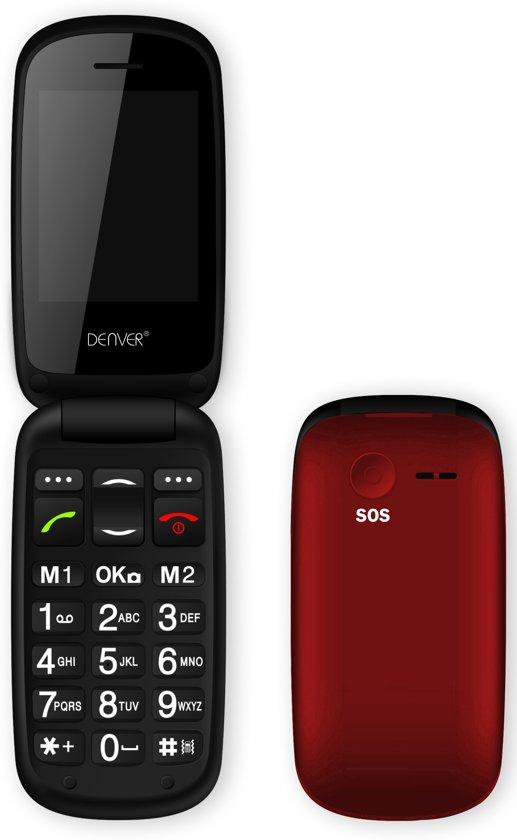 Denver GSP-130 - Senioren Telefoon - Rood - Met SOS/alarm Knop