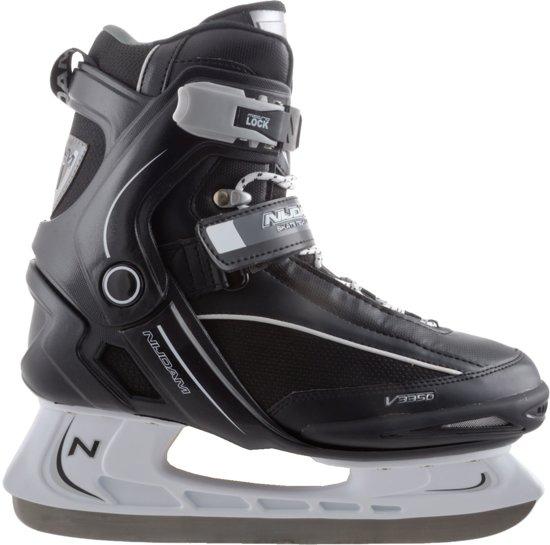 Nijdam 3350 IJshockeyschaats - Semi-Softboot - Zwart/Wit - Maat 45