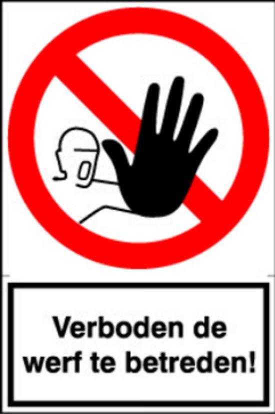 Artelli Sticker Verboden de werf te betreden