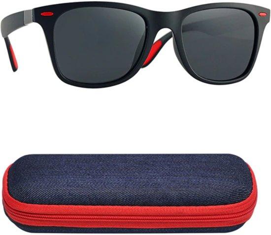 b22308fdc77cec Trendy zonnebril met UV400 filter en gepolariseerde lenzen - Zwart   Rood -  Z98