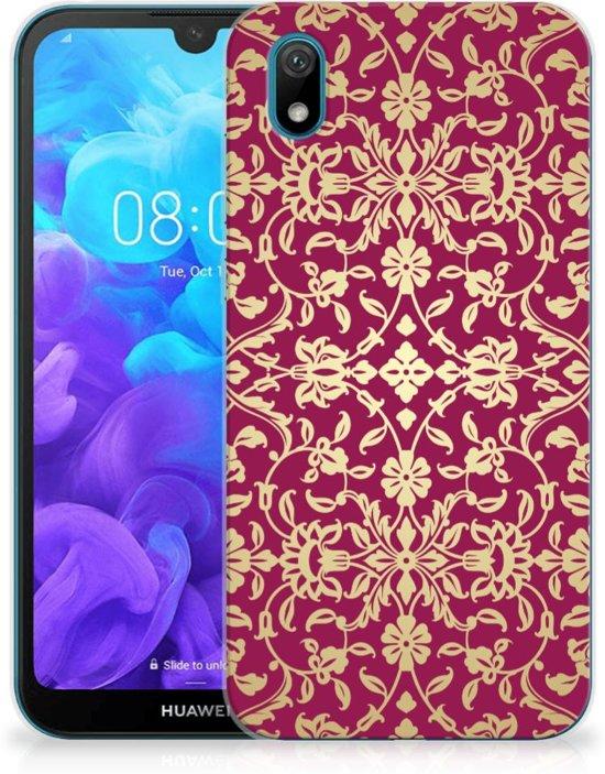 Huawei Y5 (2019) Siliconen Hoesje Barok Pink
