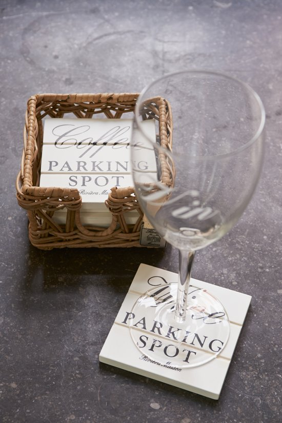 Rivièra Maison Parking Spot Coasters - Onderzetter - Wit/Bruin