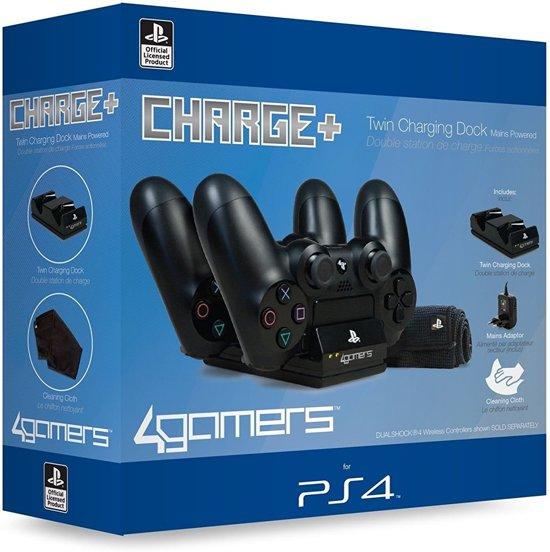 4Gamers 4G-4391 Twin Charger - Oplaadstation - met schoonmaakdoekje - PS4