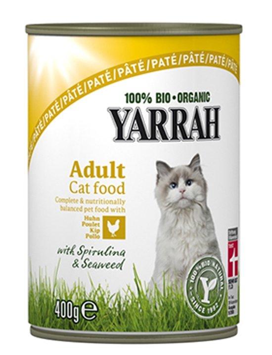 Yarrah welness pate biologische kip - 6 st à 400 gr