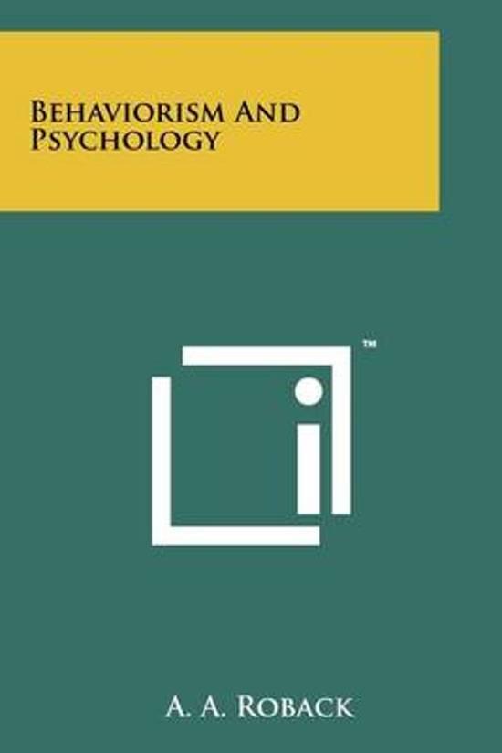 Behaviorism and Psychology