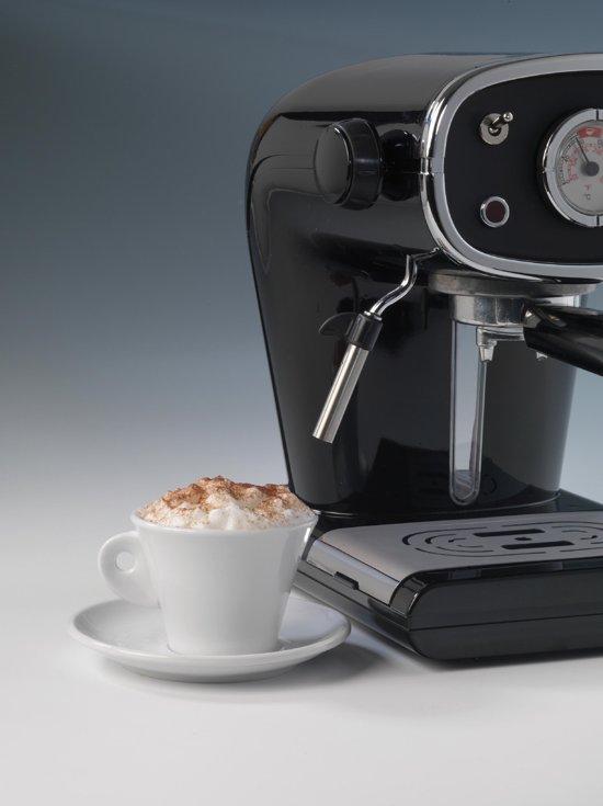 Ariete Cafe Retro Cappuccino Machine Zwart