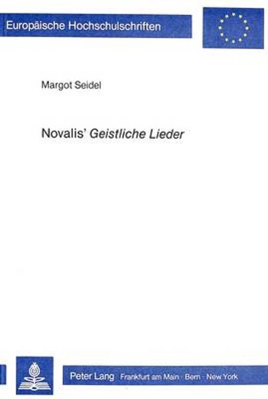 Novalis' Geistliche Lieder
