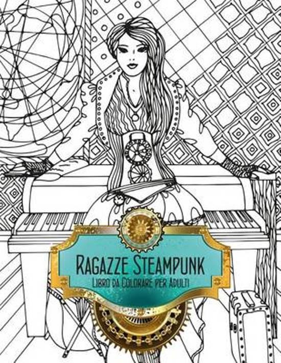 Ragazze Steampunk Libro Da Colorare Per Adulti 1