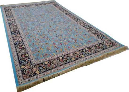 Blauw Perzisch Tapijt : Bol perzisch vloerkleed uit iran klassieke design blauw