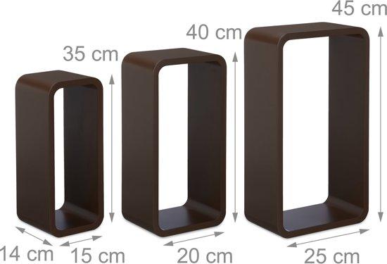 Wandplank Retro Cubes.Top Honderd Relaxdays Wandplank Set Van 3 Xl Boekenplank