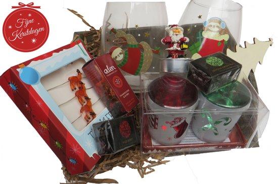 Kerstpakket Relatiegeschenk kerstcadeau 10 delig Kerst geschenk pakket.