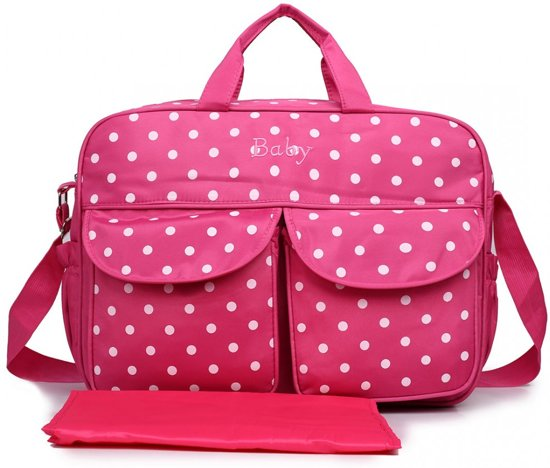 Miss Lulu verzorgingstas met polka dot patroon (08155 PM)