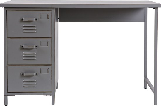 woood max bureau 100 cm vintage grijs. Black Bedroom Furniture Sets. Home Design Ideas