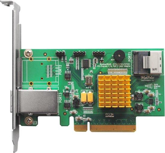 Highpoint RocketRAID 2721 RAID controller PCI Express x8 6 Gbit/s