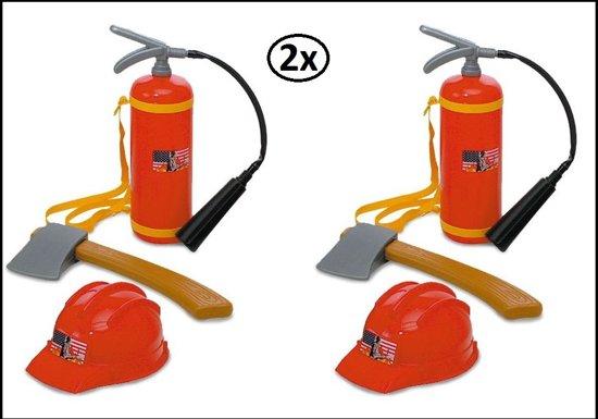 2x Brandweer set voor kinderen