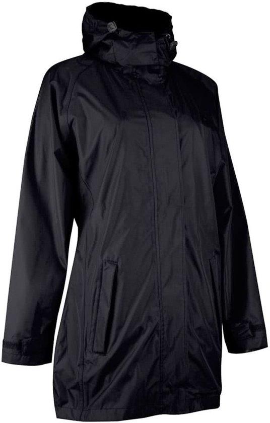 Regenjas Dames - Lang Model - Luxe Kwaliteit Regenmantel - 2000MM - Zwart - Maat XL (42)