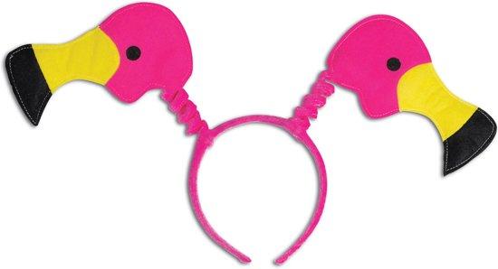 Roze flamingo haarband - Verkleedattribuut